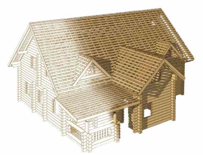 К3-Коттедж, проектирование деревянных домов, создание стропильной конструкции