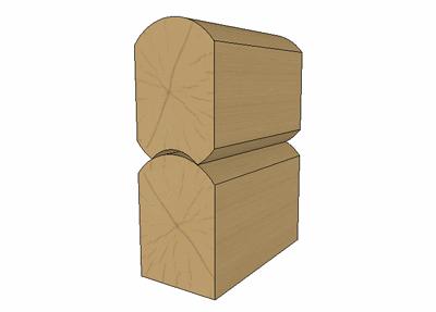 «К3-Коттедж» позволяет работать с любыми типами сечений - брус, бревно, лафет